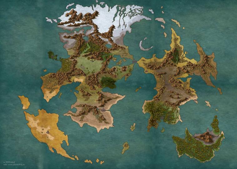 Mapa físico topográfico geográfico Vana'diel FFXI