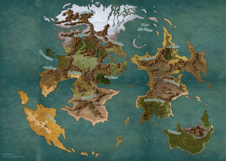 Mapa Mundo por Regiones VanaDiel FFXIR
