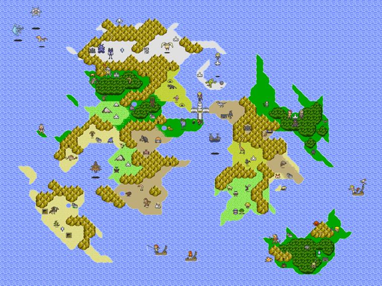 VanaDiel Mapa 8bit Middle Lands Details