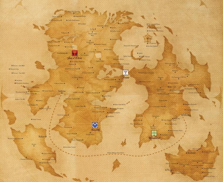 Todas las localizaciones y puntos de las Tierras Medias FFXIR