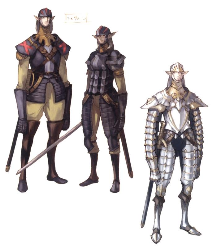 Varios Elvaans de FinalFantasy11