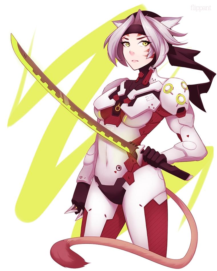 FFXI Futuristic Mithra Futuro Samurai