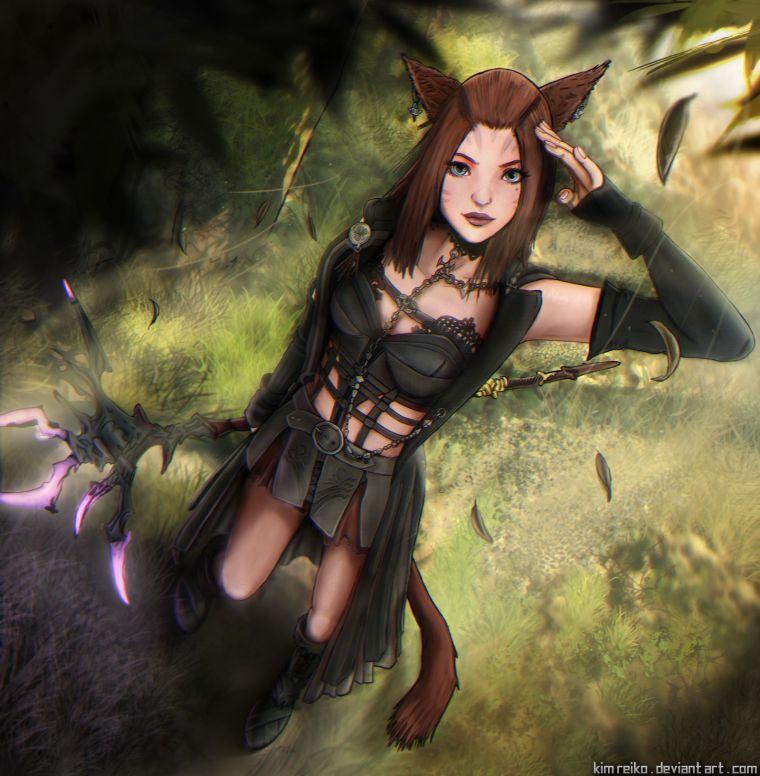 FFXIR Mithra Guapa Más Bella Belleza Final Fantasy 11 Online