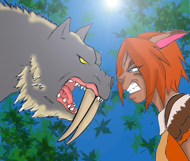 FFXIR Duelo Mithra Bestia y Chica Final Fantasy 11 XI Online Móvil MMMRPG