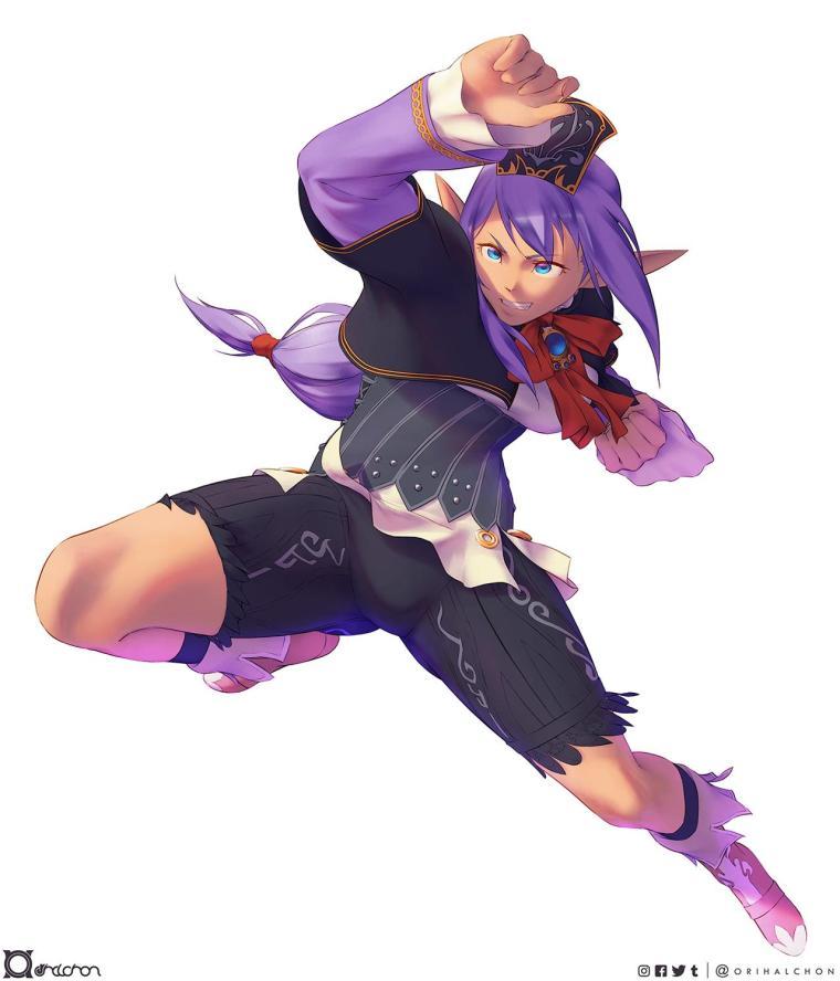 Final Fantasy Online Prishe Once Elvaan Girl