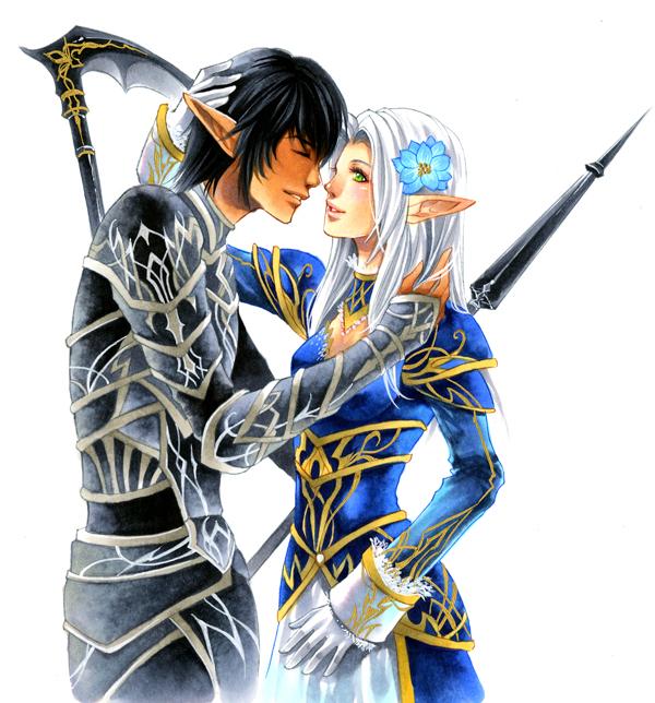 Elvaans Love Amor FFXI FinalFantasy11