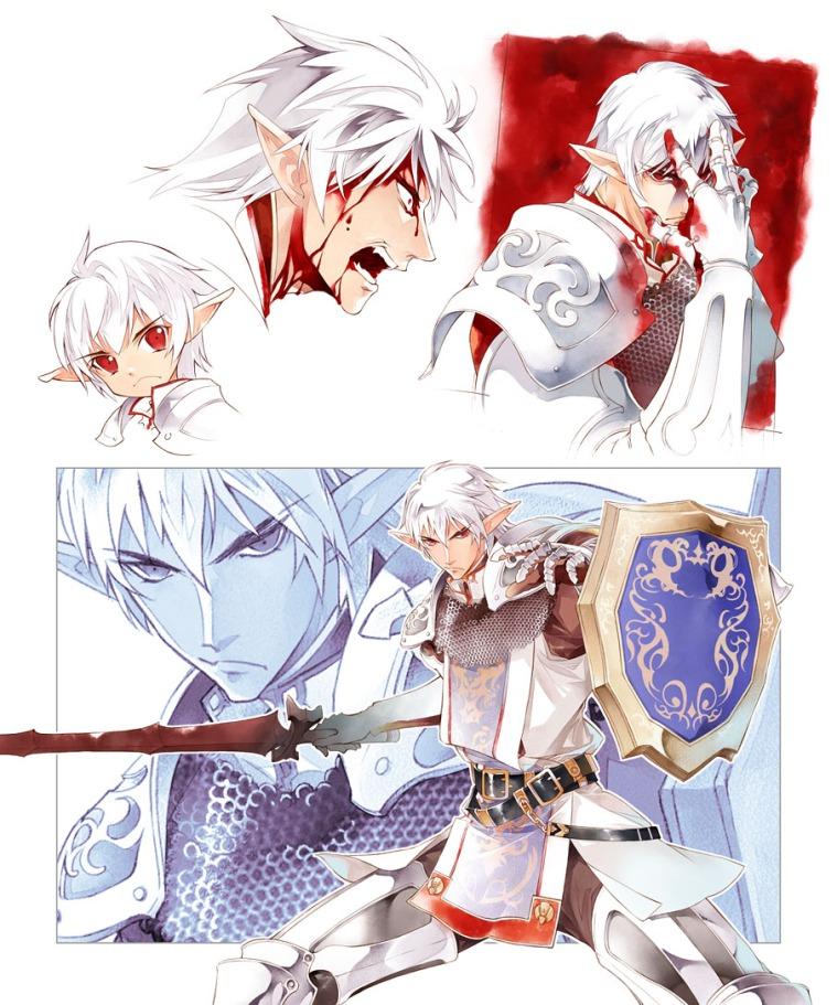 Dibujo FFXI Final Fantasy XI Fanart Arte Fan